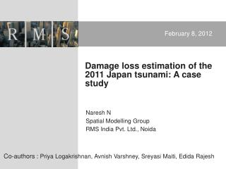 Damage loss estimation of the 2011 Japan tsunami: A case study