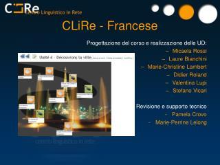 CLiRe - Francese