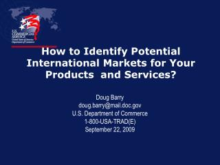 How to Identify Potential International Markets for Your Products  and Services?