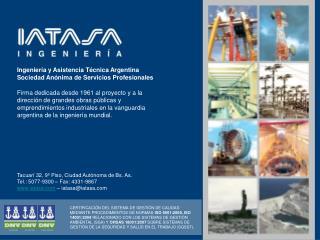 Ingeniería y Asistencia Técnica Argentina Sociedad Anónima de Servicios Profesionales