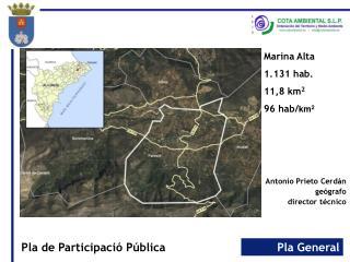 Antonio Prieto Cerdán geógrafo director técnico