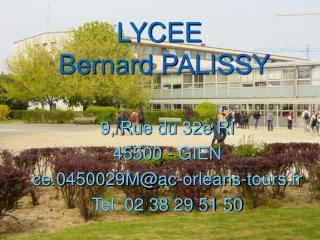 LYCEE  Bernard PALISSY