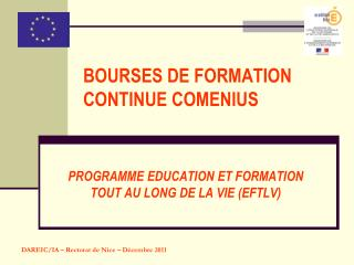 BOURSES DE FORMATION CONTINUE COMENIUS