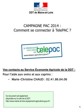 CAMPAGNE PAC 2014 : Comment se connecter � TelePAC ?
