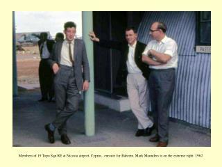 Dave Kelly with 3.5 inch `Tavistock' theodoli1e at Manama, Bahrein. 1962.