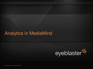 Analytics in MediaMind