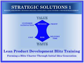 Lean Product Development Blitz Training Forming a Blitz Charter Through Initial Idea Generation