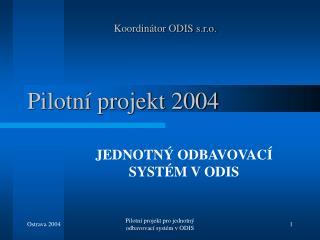 Pilotní projekt 2004