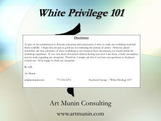 White Privilege 101