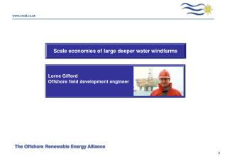 Scale economies of large deeper water windfarms