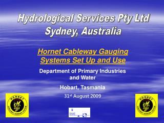 Hydrological Services Pty Ltd Sydney, Australia