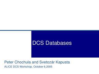 DCS Databases
