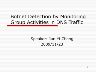 Botnet Detection by Monitoring Group Activities in DNS Traffic
