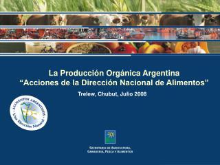 """La Producción Orgánica Argentina """"Acciones de la Dirección Nacional de Alimentos"""""""