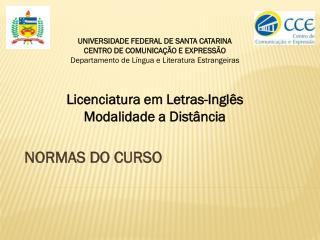 NORMAS DO CURSO