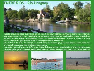ENTRE RÍOS . Río Uruguay .