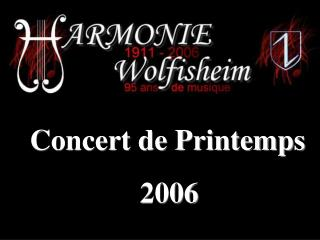 Concert de Printemps  2006