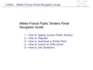 v-GISC –  Météo-France Portal Navigation Guide