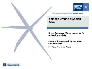 Scienze Umane e Sociali  MIM