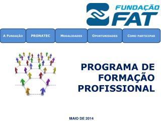 Programa de formação profissional