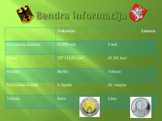 Bendra informacija