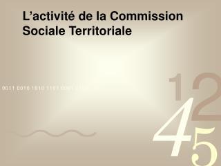 L�activit� de la Commission Sociale Territoriale