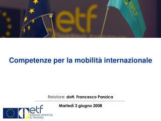 Competenze per la mobilità internazionale