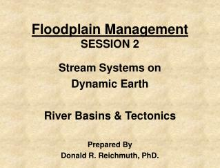 Floodplain Management SESSION 2