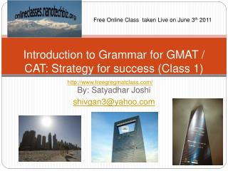 Introduction to Grammar for GMAT