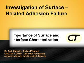 Importance of Surface and Interface Characterization