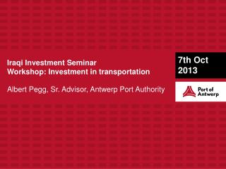 Iraqi  Investment Seminar Workshop: Investment in transportation