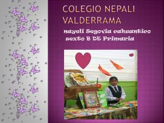 Colegio nepali  Valderrama