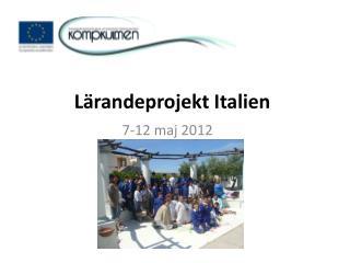 Lärandeprojekt Italien