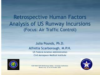 Retrospective Human Factors Analysis of US Runway Incursions (Focus: Air Traffic Control)