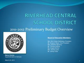 RIVERHEAD CENTRAL SCHOOL DISTRICT