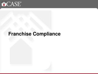 Franchise Compliance