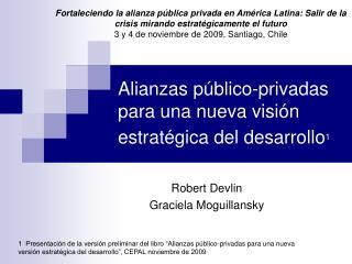 Alianzas público-privadas para una nueva visión estratégica del desarrollo 1