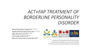 ACT+FAP TREATMENT OF BORDERLINE PERSONALITY DISORDER