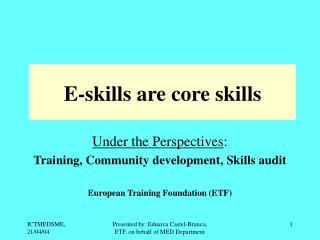 E-skills are core skills
