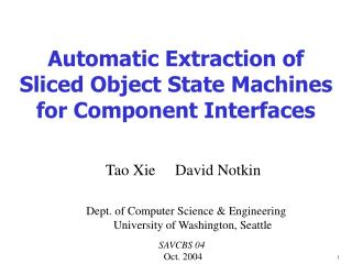 Automatic Extraction of  Sliced Object State Machines for Component Interfaces