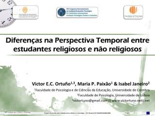 Diferenças na Perspectiva Temporal entre estudantes religiosos e não religiosos