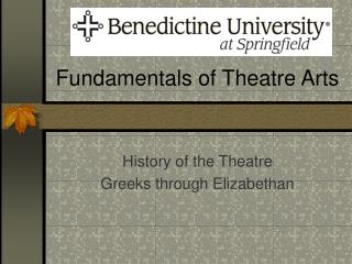 Fundamentals of Theatre Arts
