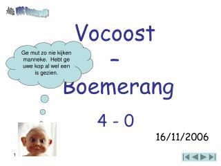 Vocoost  –  Boemerang