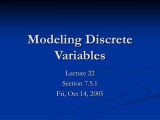 Lecture 7:  Discrete Random Variables and  their Distributions