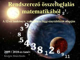 Rendszerező összefoglalás matematikából