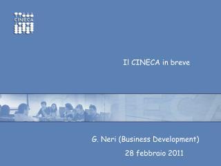 Il Consorzio all'inizio del 2011