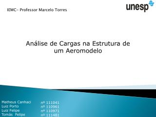 Análise de Cargas na Estrutura de um Aeromodelo