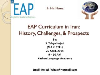 In His Name EAP Curriculum in Iran: History, Challenges, & Prospects