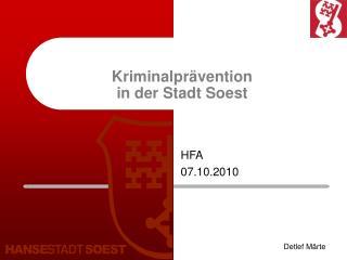 Kriminalpr�vention in der Stadt Soest