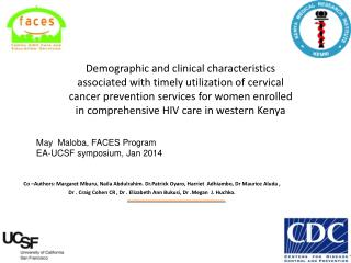 May  Maloba, FACES Program EA-UCSF symposium, Jan 2014